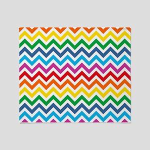 Rainbow Chevron Pattern Throw Blanket