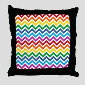 Rainbow Chevron Pattern Throw Pillow