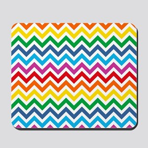 Rainbow Chevron Pattern Mousepad