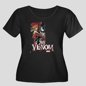 Venom Ha Women's Plus Size Scoop Neck Dark T-Shirt