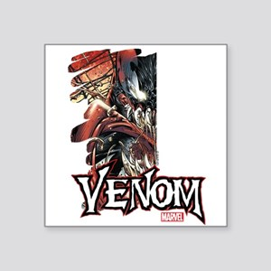 "Venom Half Square Sticker 3"" x 3"""