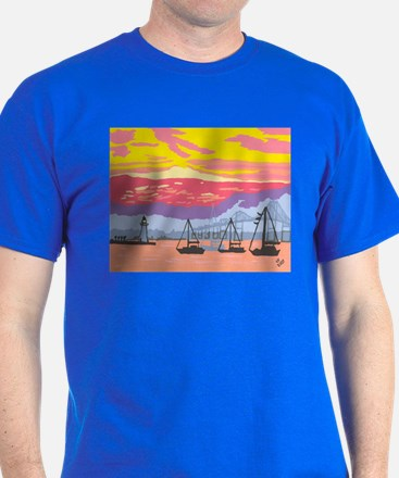 Newport Harbor Sunset T-Shirt