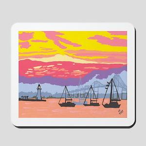 Newport Harbor Sunset Mousepad