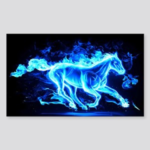 Flamed Horse Sticker