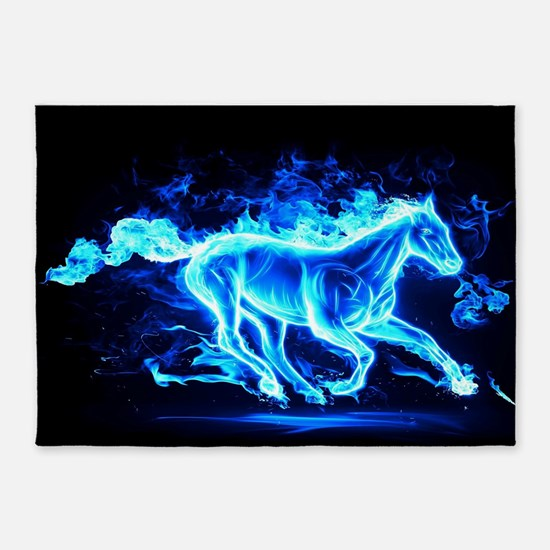 Flamed Horse 5'x7'Area Rug