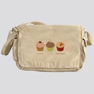 Peace Love Cupcakes Messenger Bag