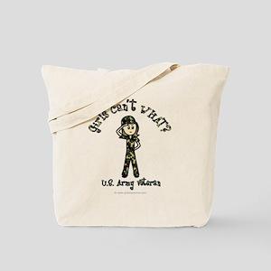 Light Army Veteran Tote Bag