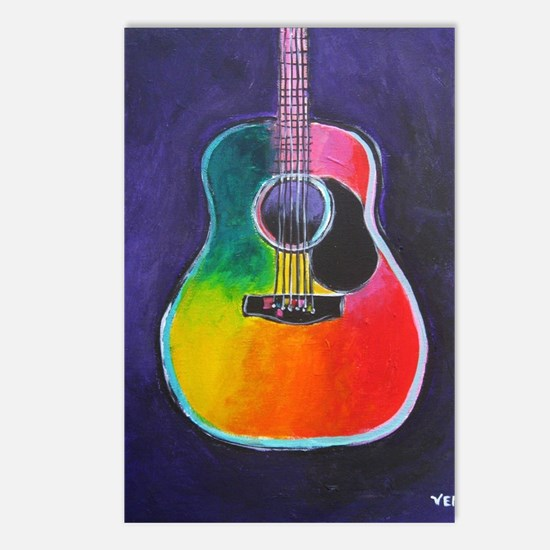 Unique Acoustic guitar Postcards (Package of 8)