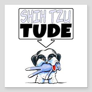 "Shih Tzu Tude Square Car Magnet 3"" x 3"""
