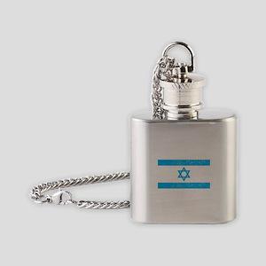 Israel Flag - Magen David Flask Necklace