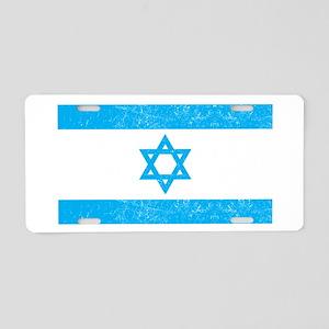 Israel Flag - Magen David Aluminum License Plate