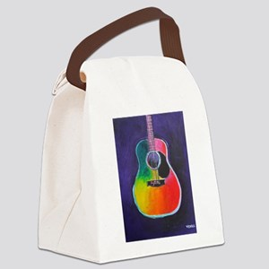 ACOUSTIC GUITAR Canvas Lunch Bag