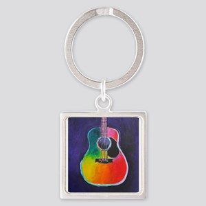 ACOUSTIC GUITAR Square Keychain