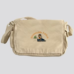 Snowmobile Addict Messenger Bag