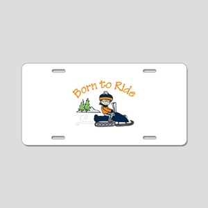 Born to Ride Aluminum License Plate