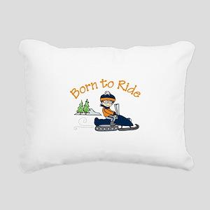 Born to Ride Rectangular Canvas Pillow