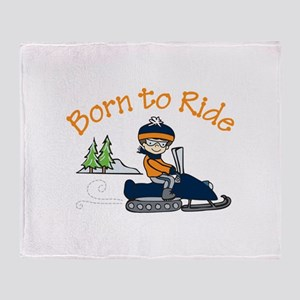 Born to Ride Throw Blanket