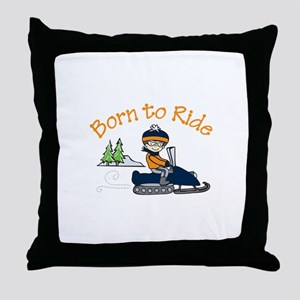 Born to Ride Throw Pillow