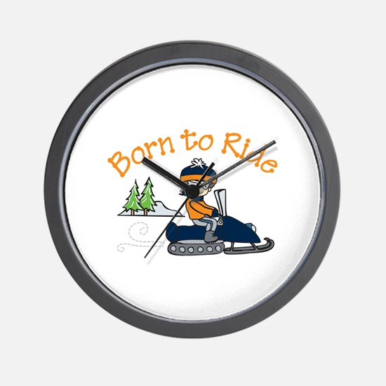 Born to Ride Wall Clock
