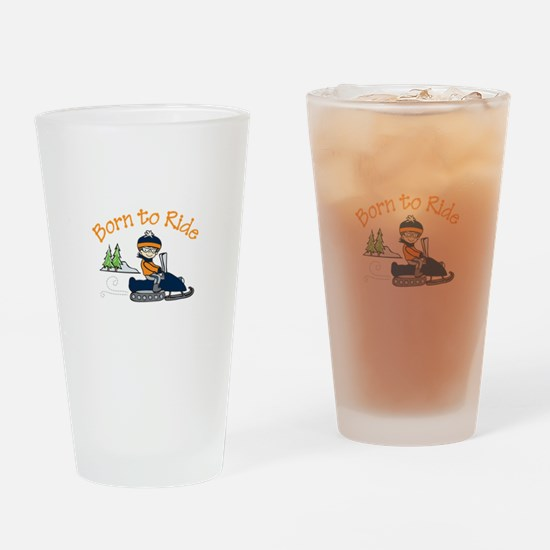 Born to Ride Drinking Glass