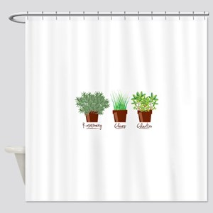Rosemary Chives Shower Curtain
