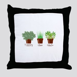 Rosemary Chives Throw Pillow