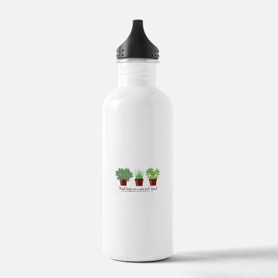 Fresh Herbs Water Bottle