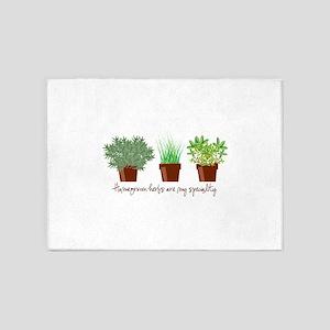 Homegrown Herbs 5'x7'Area Rug