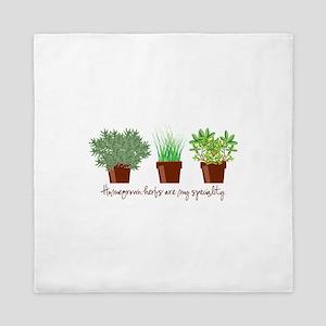 Homegrown Herbs Queen Duvet