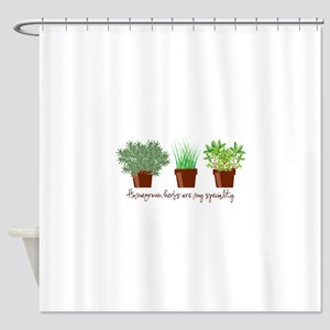 Homegrown Herbs Shower Curtain