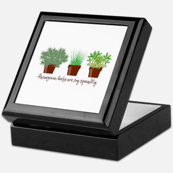 Homegrown Herbs Keepsake Box