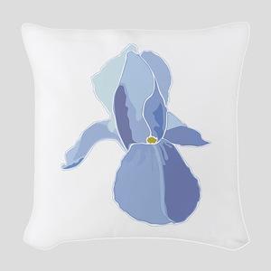 Blooming Iris Woven Throw Pillow