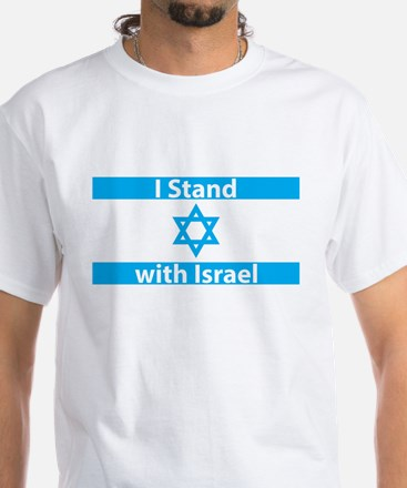 I Stand with Israel - Flag White T-Shirt