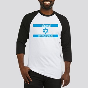 I Stand with Israel - Flag Baseball Jersey