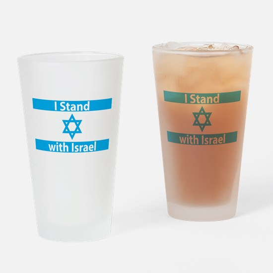 I Stand with Israel - Flag Drinking Glass