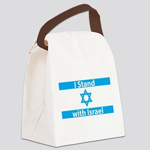 I Stand with Israel - Flag Canvas Lunch Bag