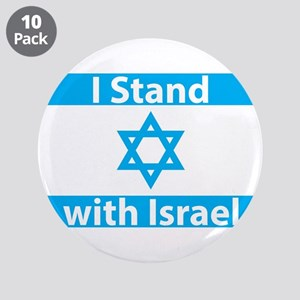 """I Stand with Israel - Flag 3.5"""" Button (10 pack)"""