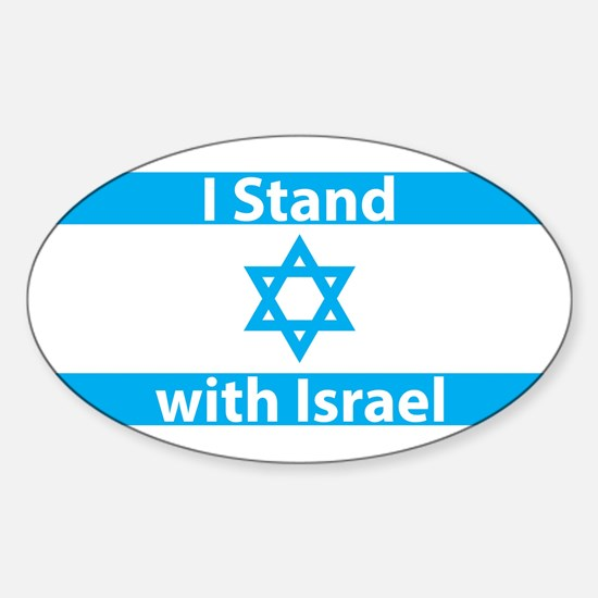 I Stand with Israel - Flag Sticker (Oval)