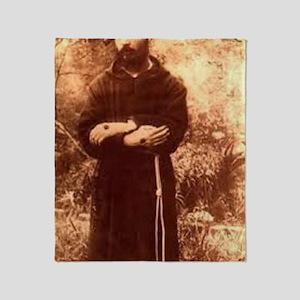 Youg Padre Pio Throw Blanket