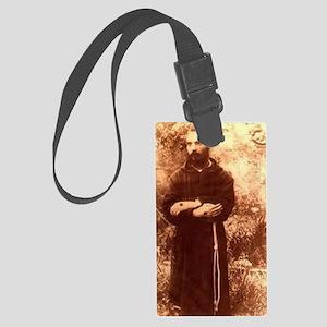 Youg Padre Pio Large Luggage Tag