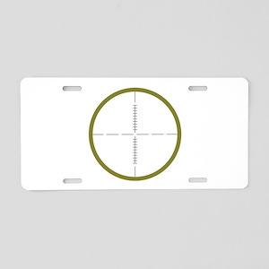 Army Scope Aluminum License Plate