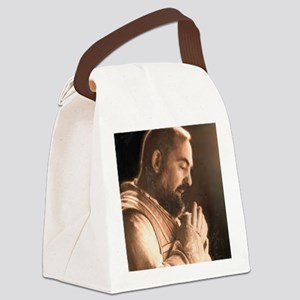 Padre Pio Canvas Lunch Bag