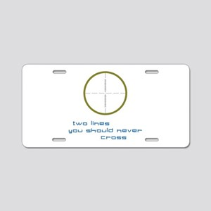 Two Lines Aluminum License Plate