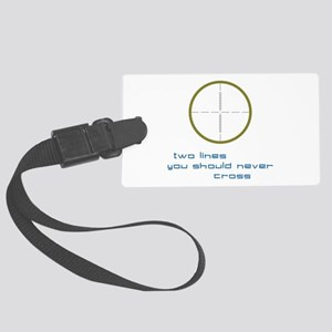 Two Lines Luggage Tag