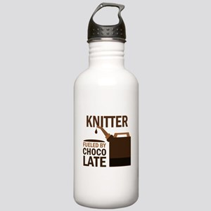 Knitter Fueled by choc Stainless Water Bottle 1.0L