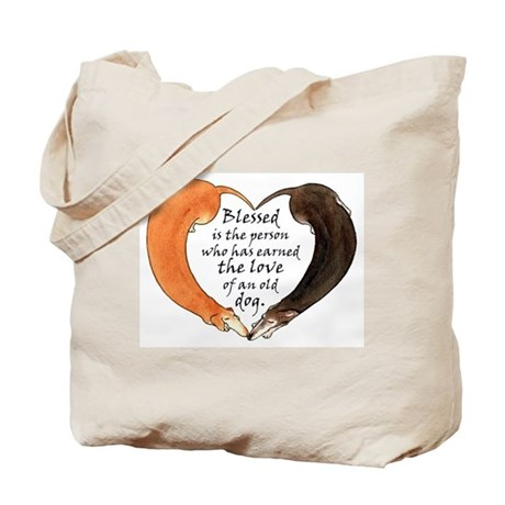 Love of an Old Dog Tote Bag