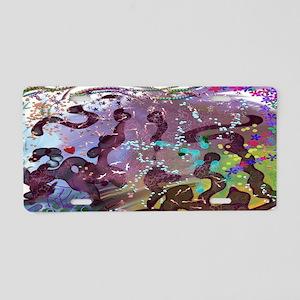 Fauve Aluminum License Plate