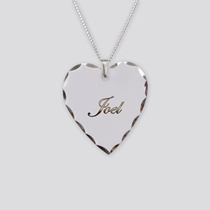 Gold Joel Necklace Heart Charm