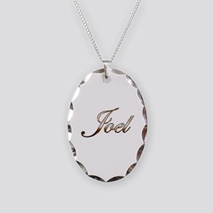 Gold Joel Necklace Oval Charm
