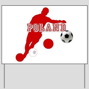 Polish Soccer Player Yard Sign